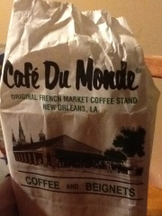 On the first day of the year we were in New Orleans and had just finished a conference and where headed home but not before stopping by Cafe' Du Monde for some beignets!